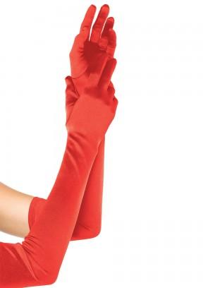 Длинные сатиновые перчатки