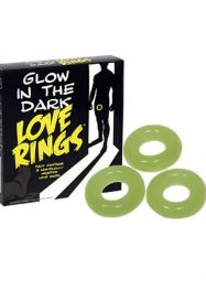SPENCER AND FLEETWOOD – GLOW IN THE DARK 3 LOVE RINGS